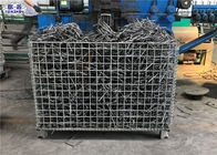 Workshop Storage Wire Mesh Pallet Cages , Galvanized Welded Industrial Storage Cage