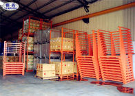 Q235 Galvanized Steel Stacking Racks SX-SSR01 4 Tiers Shelving For Ginger