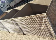 Anti Blast Wall Welded Wire Mesh , Hesco Barrier Wall For River Flood Protection