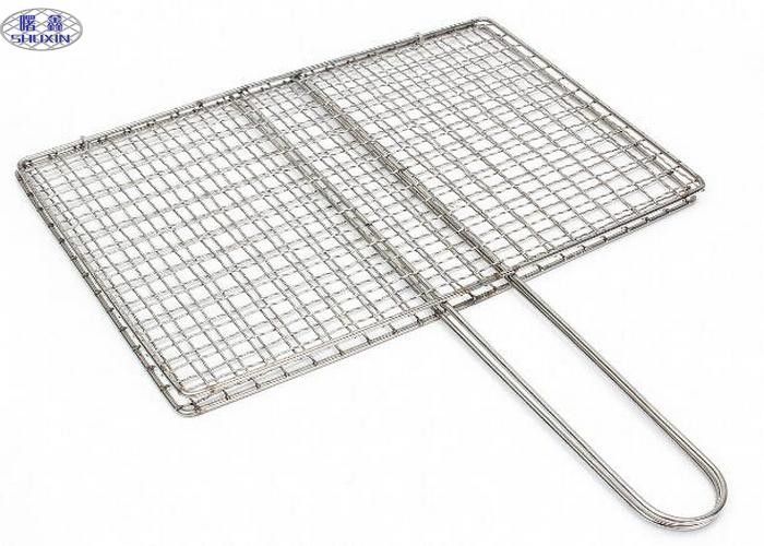 Square Barbecue Grill Wire Mesh , Stainless Steel BBQ Grill Mesh ISO Certificated