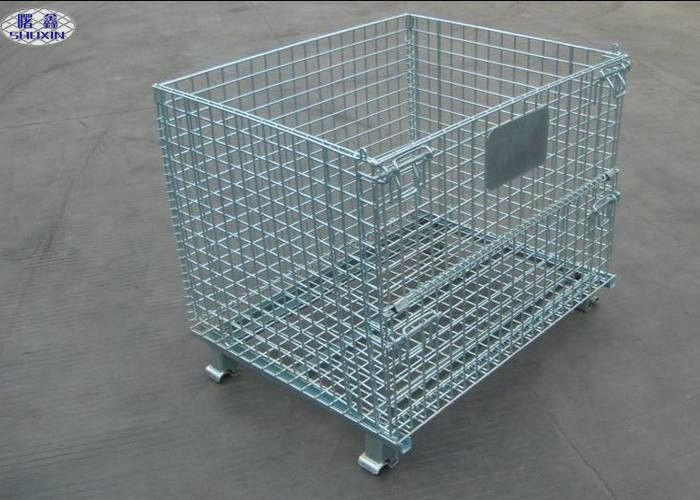 Metal Steel Wire Pallet Cages Turnover / Storage / Recycling For Goods