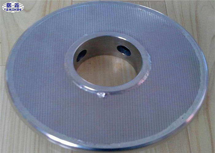 5 Micron Stainless Steel Filter Disc , 316L Weaved Sintered Filter Disc With Edge