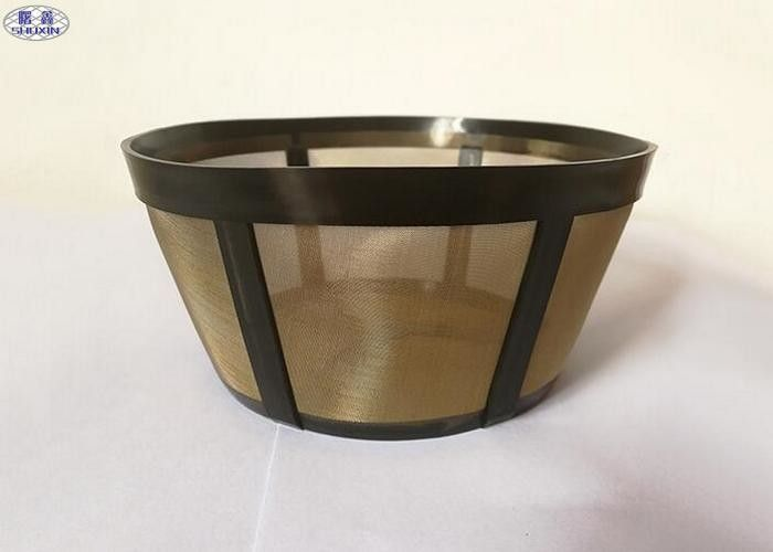 Stainless Steel Wire Mesh Coffee Filter , Custom Carafe K Cup Reusable Filter