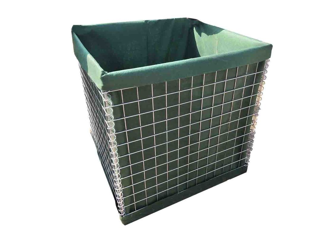 "3""*3"" Standard Security Military Welded Hesco Barrier Galvanized Wire"