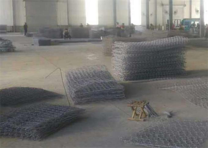 Galfan Coated Reinforced Gabion Mesh For Road Construction and Erosion Control